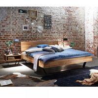 Tjoernbo Bett Modern Sleep C Baumkante Schwebendes Massivholzbett  001