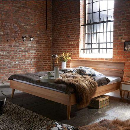 Tjoernbo Bett Modern Sleep Kopfteil Retro A und Bein A Massivholz – Bild 1