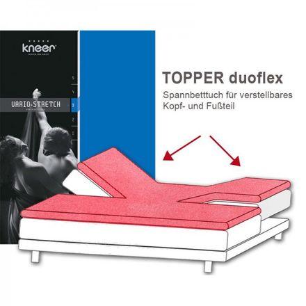 Kneer Spannbetttuch Vario Stretch Q 22 duoflex  für Topper – Bild 1