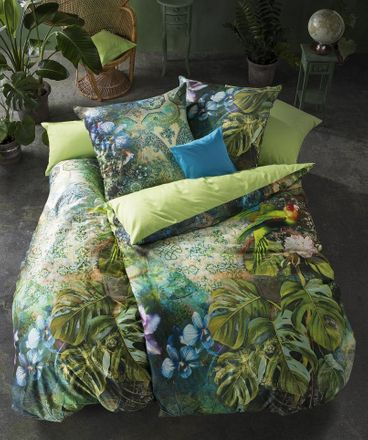 Fleuresse Bettwäsche Mako Satin Bed Art 113931 / 5 jungle green – Bild 1