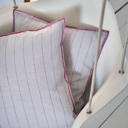 Elegante Casual Halbleinenbettwäsche Pop Pink – Bild 4