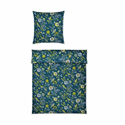 Covered bed linen Satinbettwäsche Nightbirds Lime – Bild 1