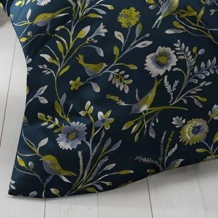 Covered bed linen Satinbettwäsche Nightbirds Lime – Bild 3