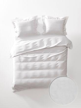 Heckett & Lane Bettwäsche Kristel Perkal weiß 135x200 cm – Bild 1