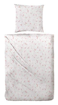 Bio - Bettwäsche Crêpe Blossom - Rosé – Bild 1