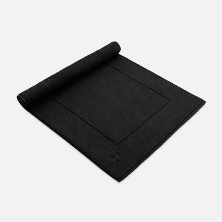 Badteppich schwarz black einfarbig Möve verschiedene Größen – Bild 1
