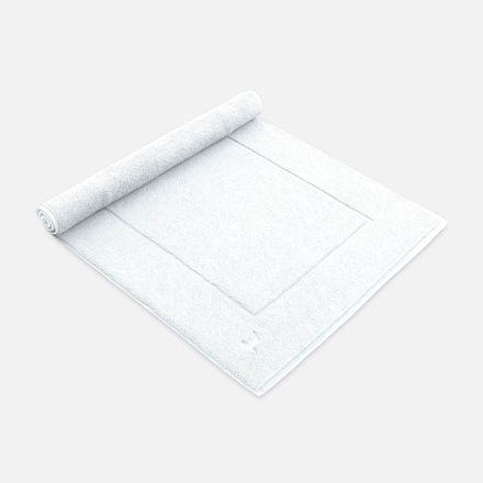 Badteppich weiß snow einfarbig Möve verschiedene Größen – Bild 1