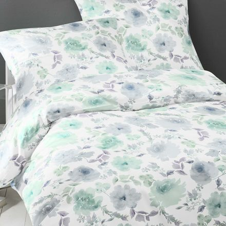Covered bed linen Satinbettwäsche Maedow - Mint – Bild 3
