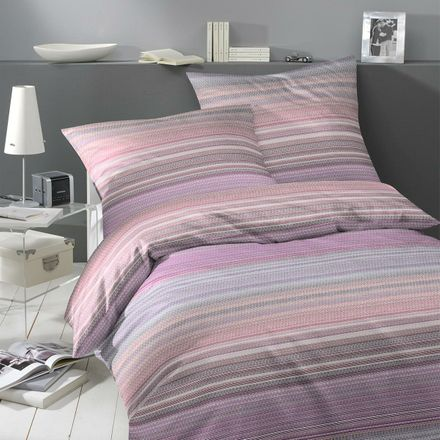 Covered bed linen Satinbettwäsche Weave - Purple – Bild 2