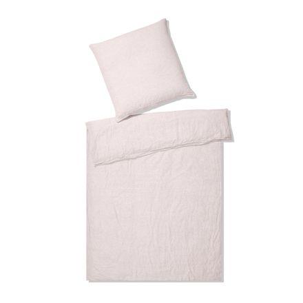 Elegante Casual Halbleinenbettwäsche Breeze - rosé
