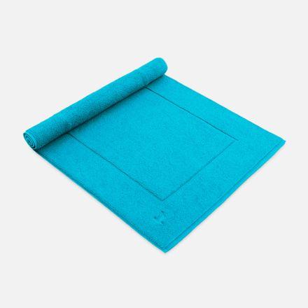 Badteppich türkis turquoise einfarbig Möve verschiedene Größen – Bild 1