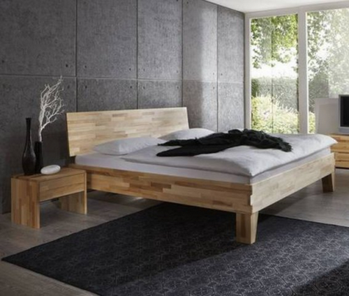 bettgestell classic massivholz kernbuche mit kopfteil 360 und f en dico betten massivholzbetten. Black Bedroom Furniture Sets. Home Design Ideas