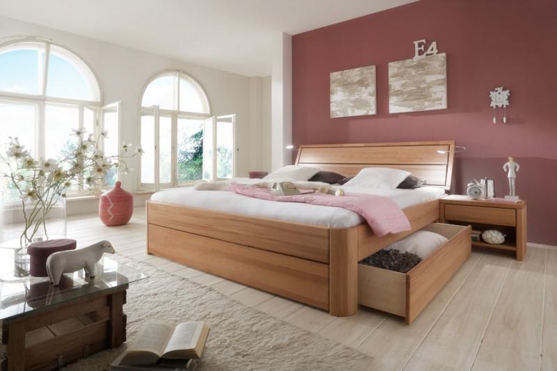 toernbo bett mit bettkasten komforth he 45 cm easy sleep w nsch dir was kernbuche kopfteil 1. Black Bedroom Furniture Sets. Home Design Ideas