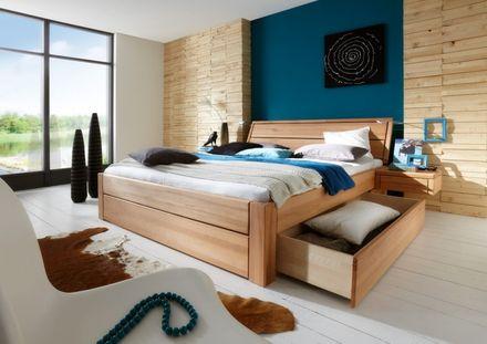 """Toernbo Bett mit Bettkasten Komforthöhe 45 cm Easy Sleep """"Wünsch dir was"""" Kernbuche Kopfteil 1  – Bild 2"""
