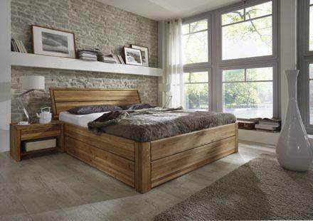 """Tjoernbo Bett Easy sleep mit Bettkasten Komforthöhe 45 cm """"Wünsch dir was"""" Eiche Kopfteil 1  – Bild 1"""
