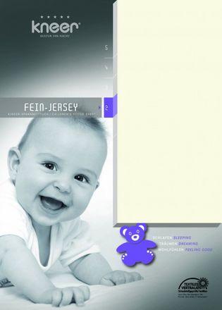 Kinderspannbetttuch Feinjersey Q 50 Kneer Wäschefabrik in allen Farben und Größen – Bild 1