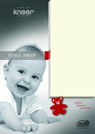 Kinderspannbetttuch Single-Jersey Q 60 Kneer Wäschefabrik in allen Farben und Größen – Bild 1