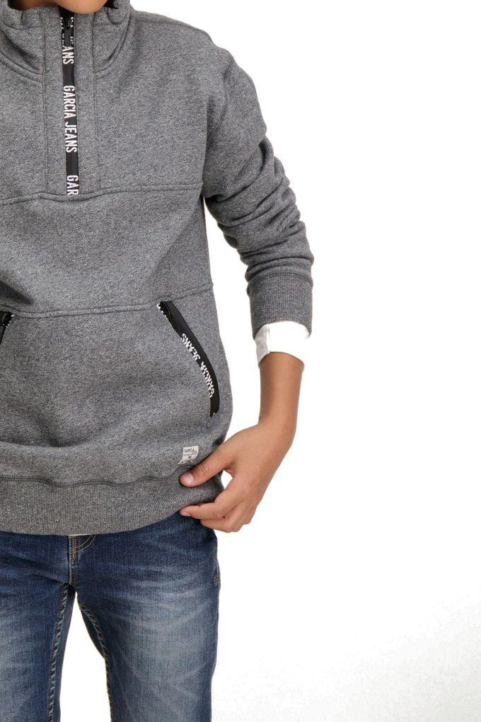 Garcia Jungen Sweater angeraut grey melee – Bild 3