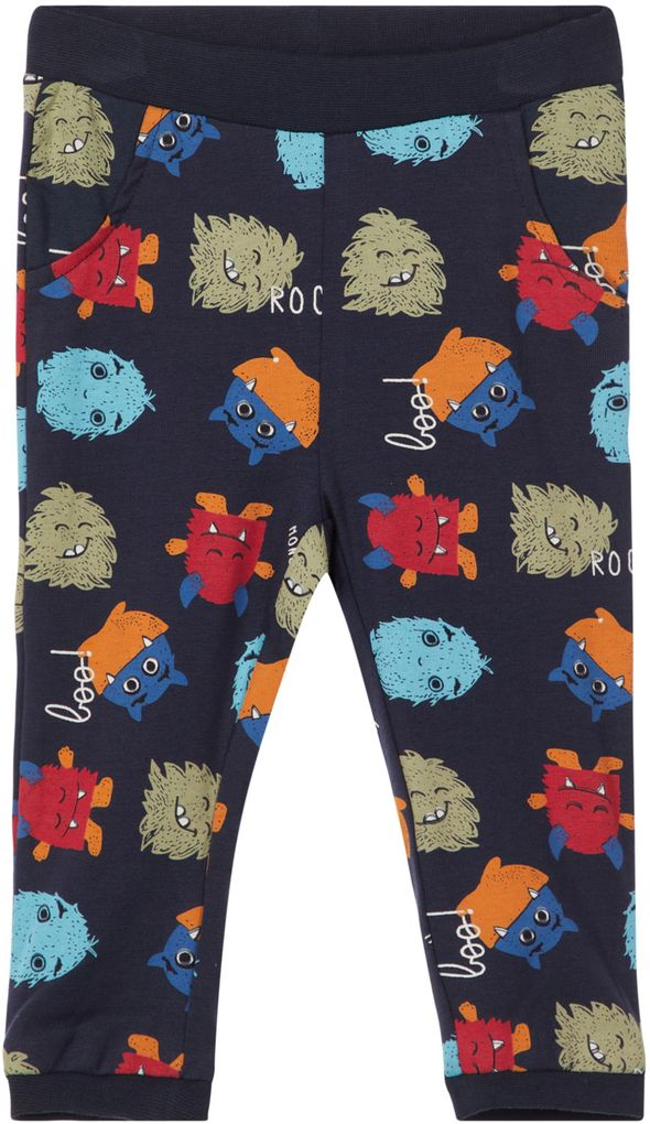 Name it Baby Jungen Jogginghose NBMOLSO Monster dunkelblau – Bild 1
