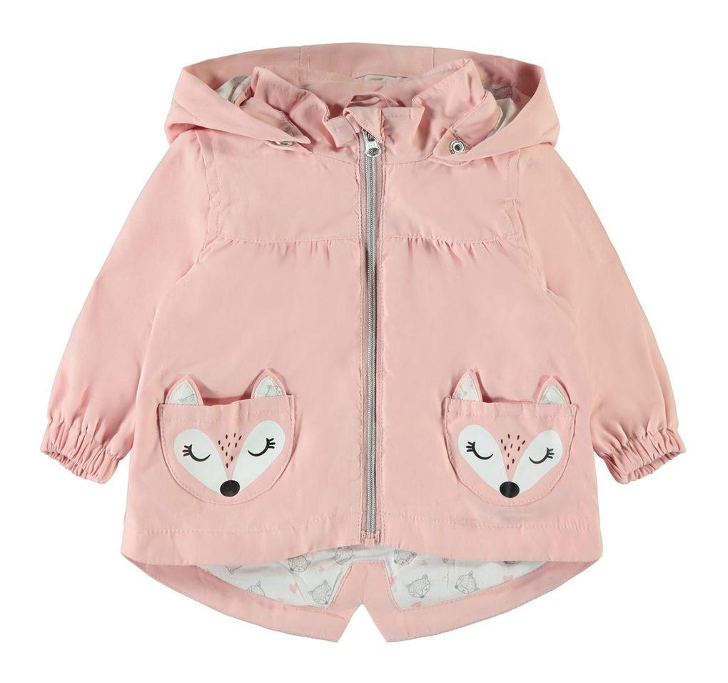 Name it Baby Mädchen Übergangsjacke mit Kapuze NBFMERLE in silver pink
