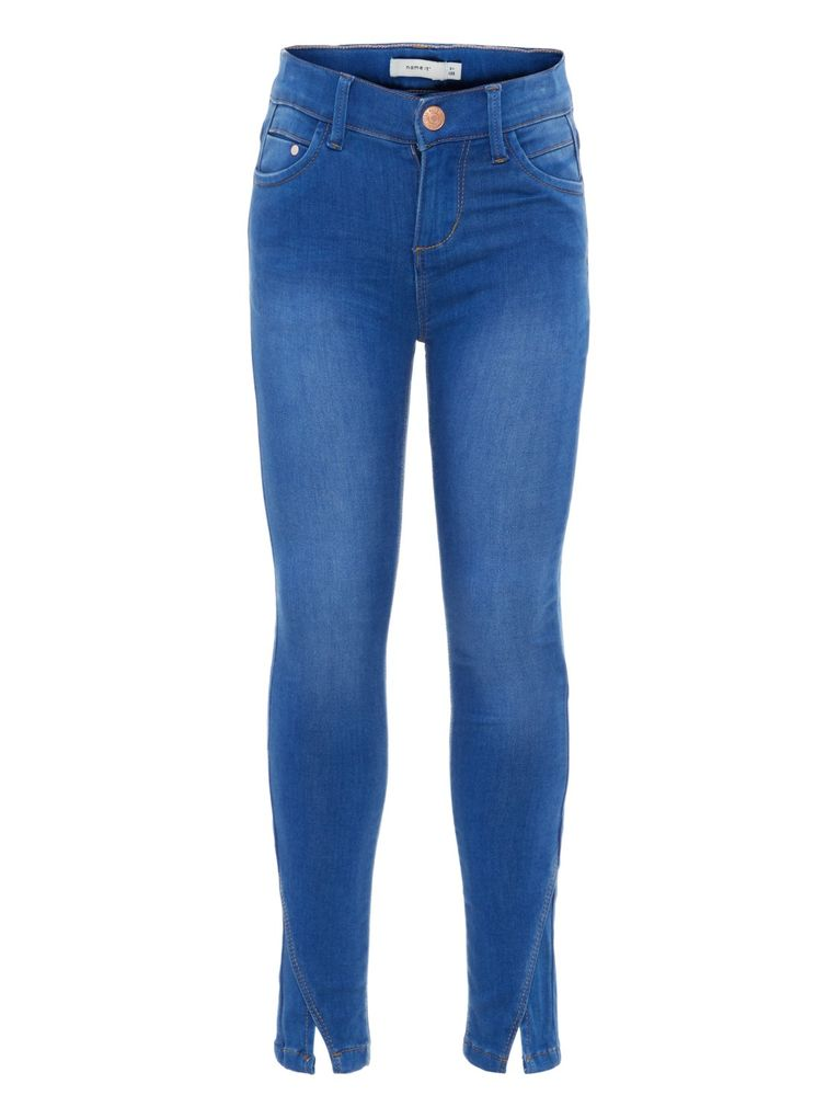 Name it Mädchen Jeans Hose Skinny fit NKFPOLLY medium blue denim – Bild 1