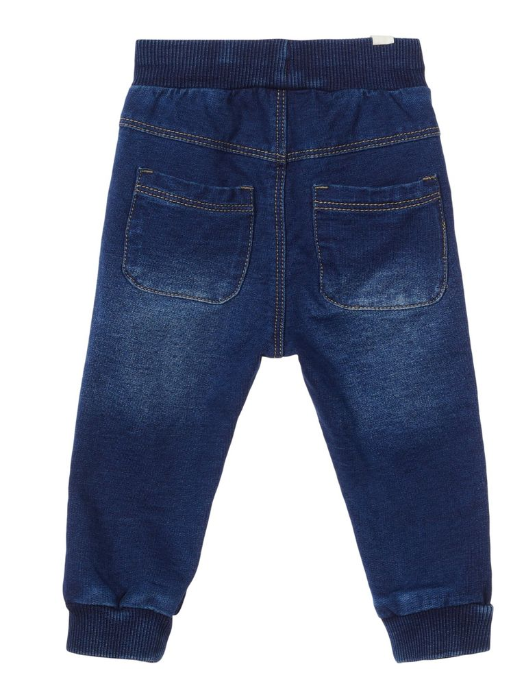 Name it Baby Jungen Jeans Hose Sweatdenim Joggbund NBMROMEO dark blue denim – Bild 2