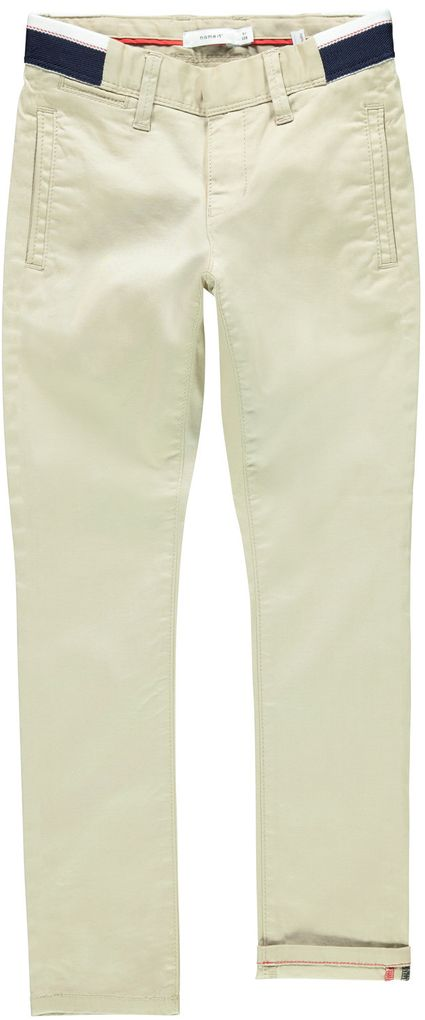 Name it Jungen Chino-Hose NKMSILAS slim fit white pepper – Bild 1