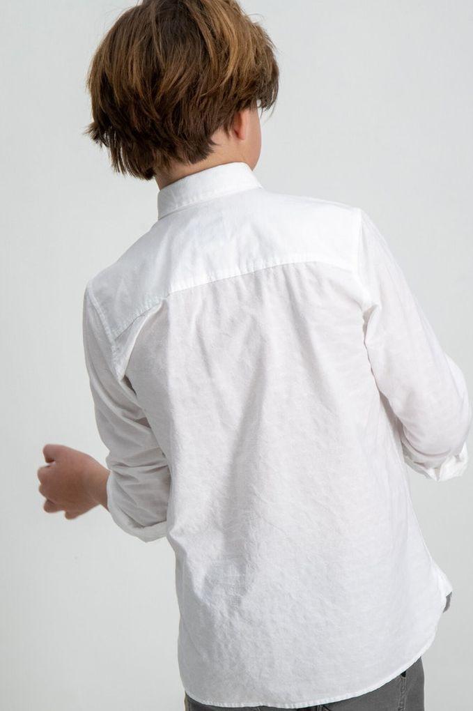 Garcia Jungen Hemd langarm festlich Baumwolle weiß – Bild 4