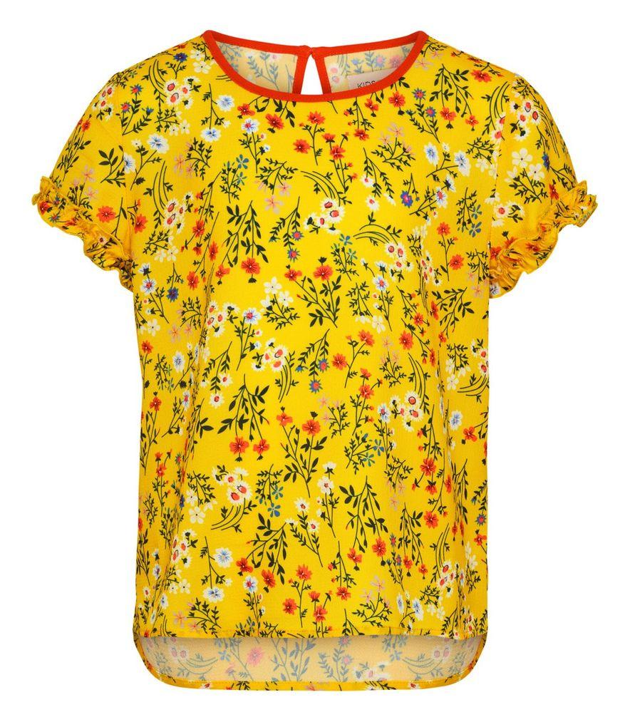 Kids Only Mädchen Shirt-Bluse kurzarm Millefleurs KONAGNES