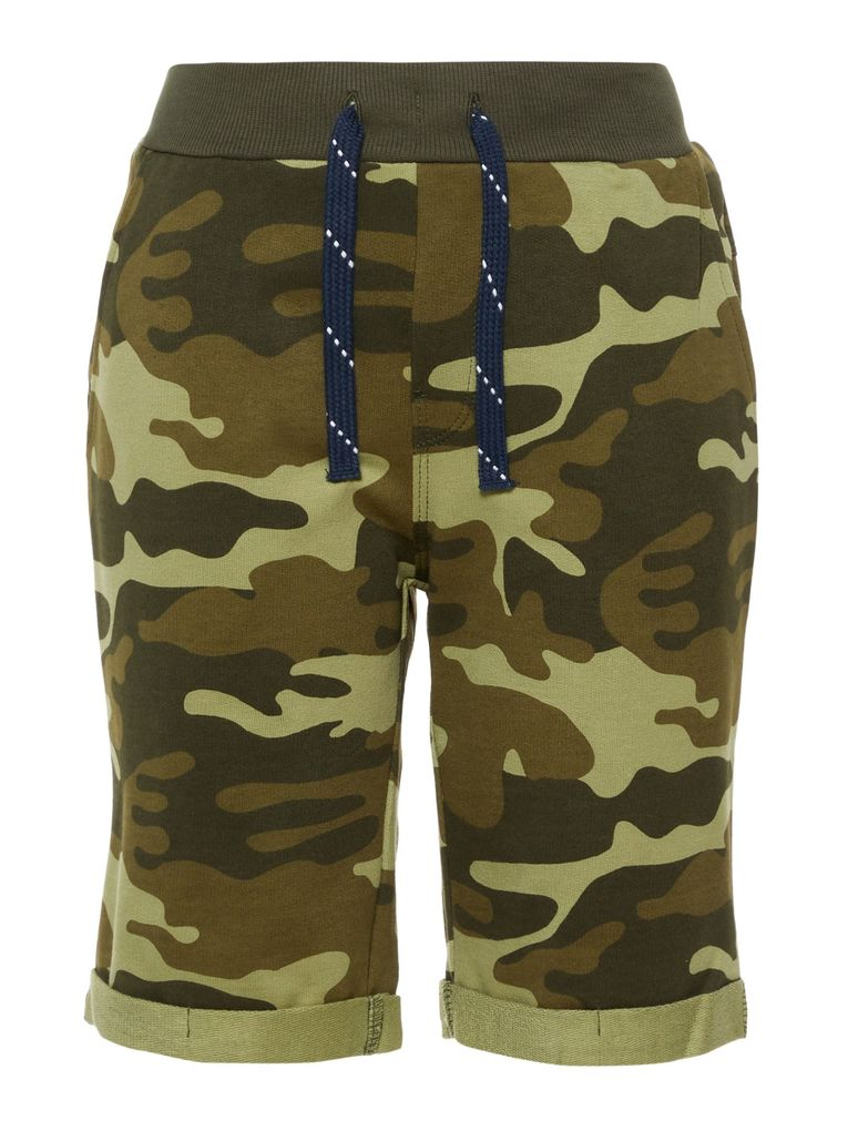Name it Jungen Long Shorts NKMVERMO Sweathose Camouflage – Bild 1