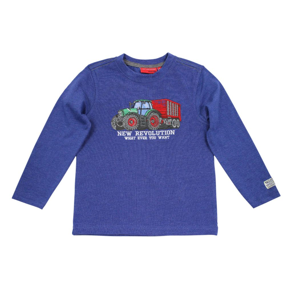 Salt and Pepper Jungen Longsleeve Farmer Traktor Revolution