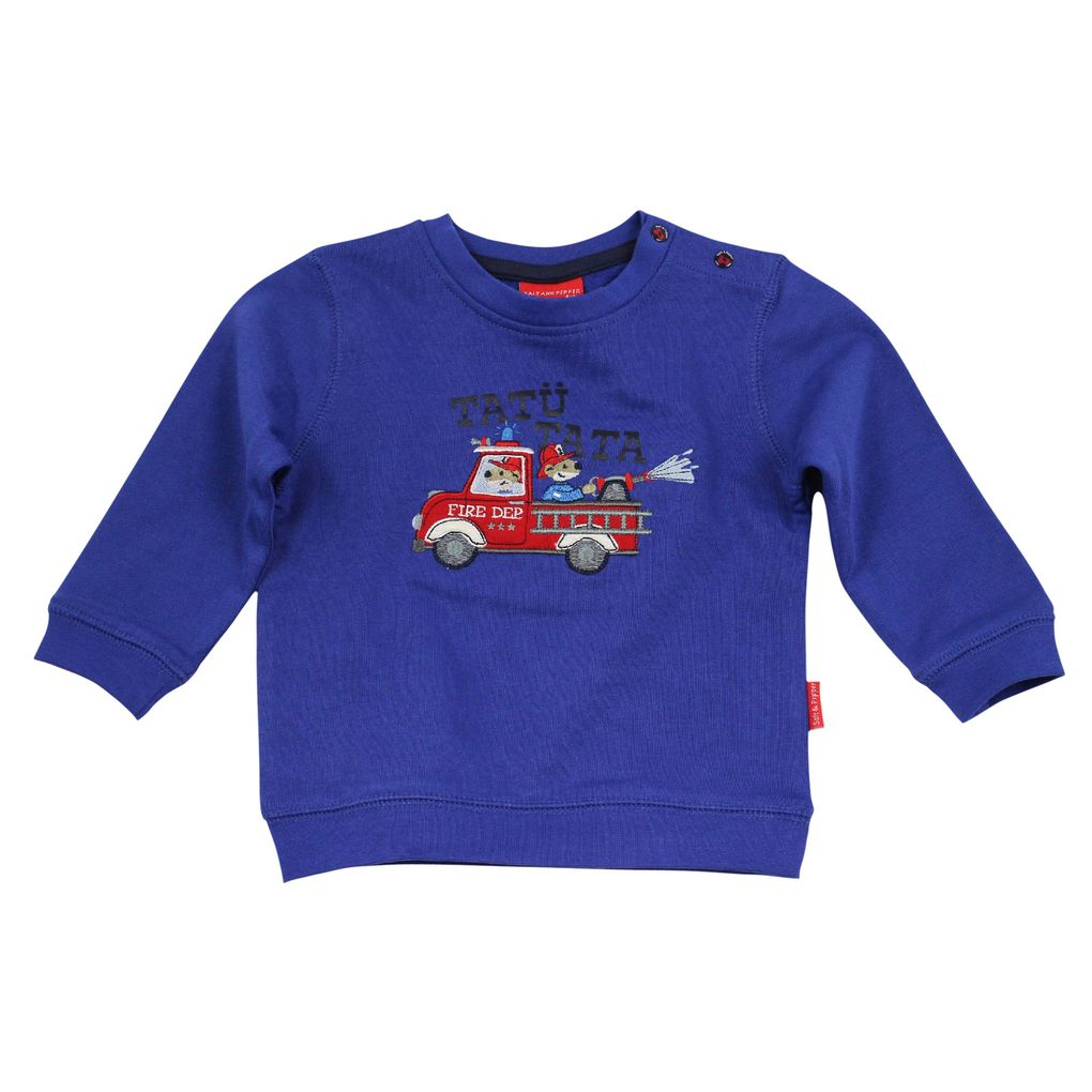 Salt & Pepper Baby Sweatshirt Feuerwehr little fire chief