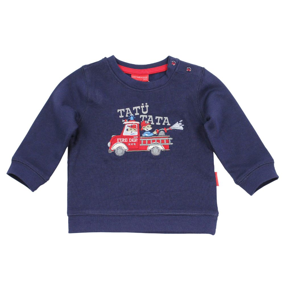 Salt & Pepper Baby Sweatshirt Feuerwehr little fire chief – Bild 2