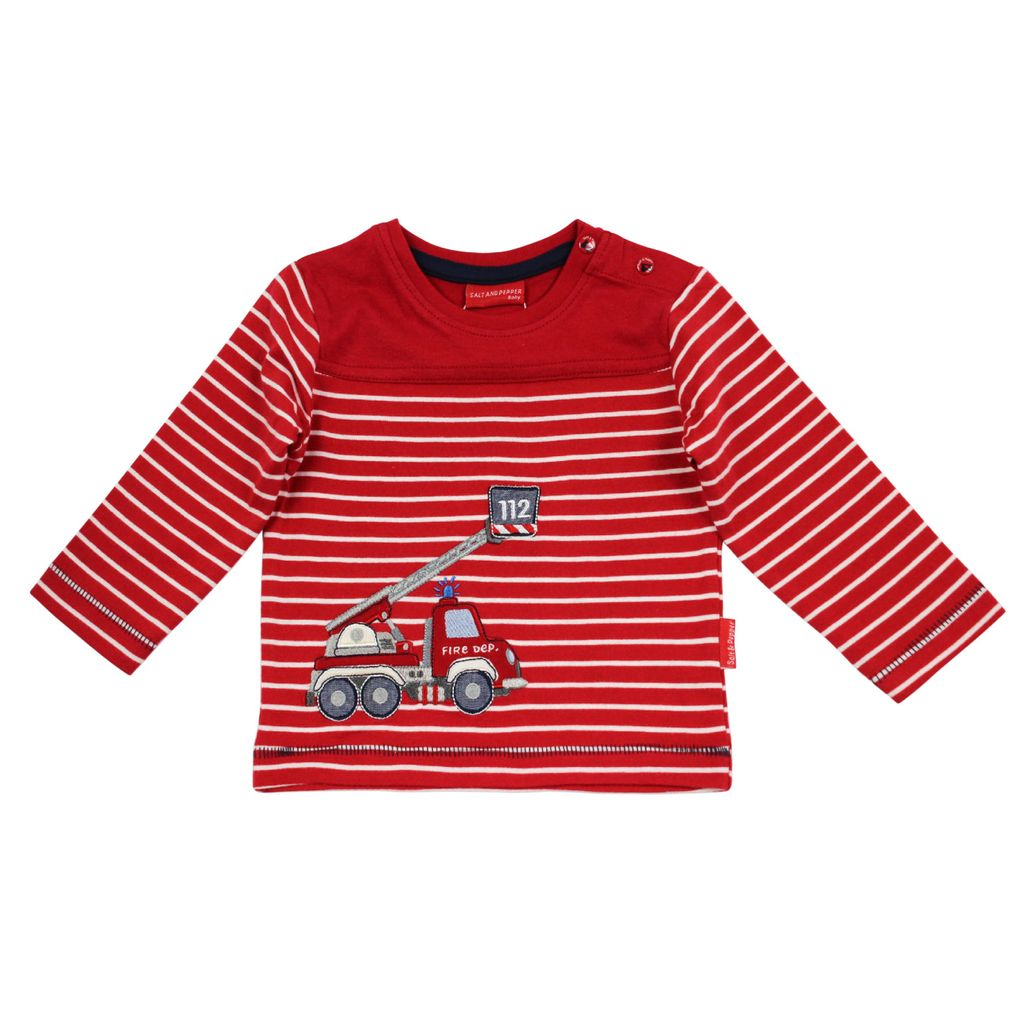 Salt & Pepper Baby Langarm-Shirt Feuerwehr little fire chief – Bild 1