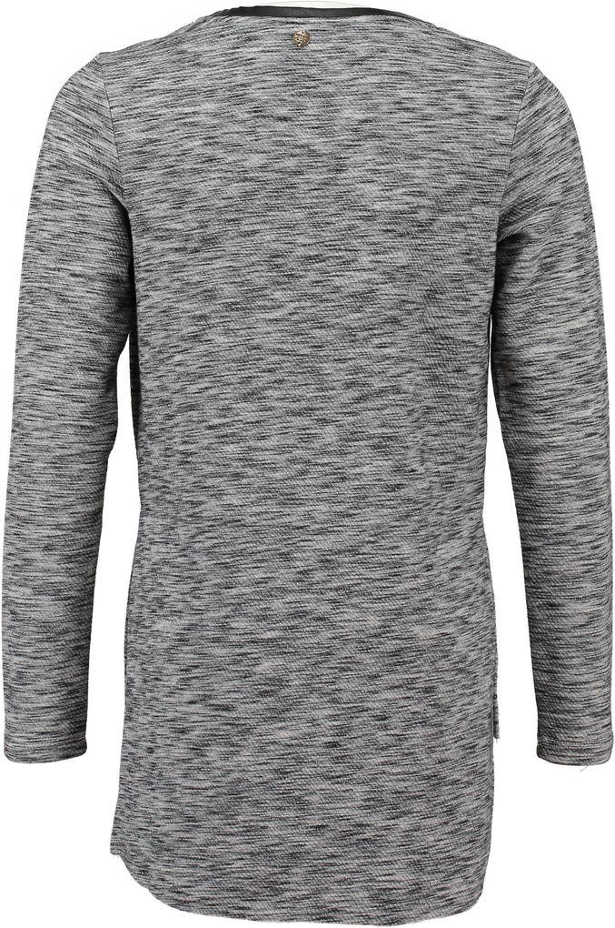 Garcia Mädchen Long-Sweatshirt Lederoptik Details off black – Bild 2