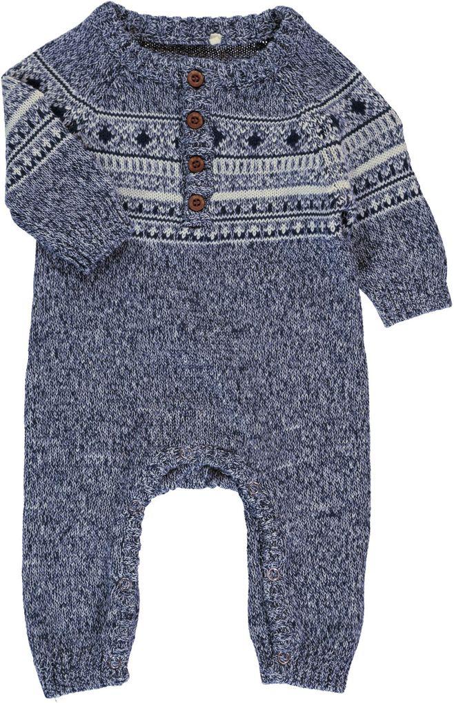Name it Baby Strick-Overall Norwegermuster Nitmalthe – Bild 3