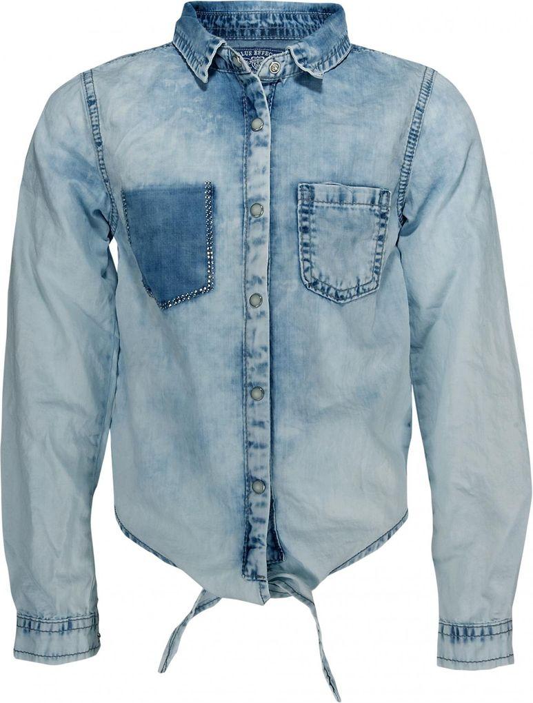 Blue Effect Mädchen Jeansbluse vorn zum Binden in hellblau light washed – Bild 1