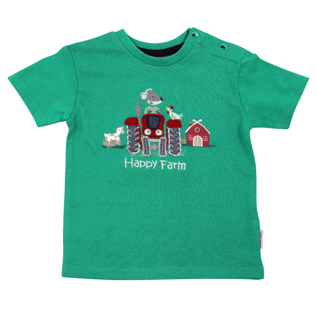 Salt and Pepper Baby T-Shirt Little Farmer Traktor – Bild 1