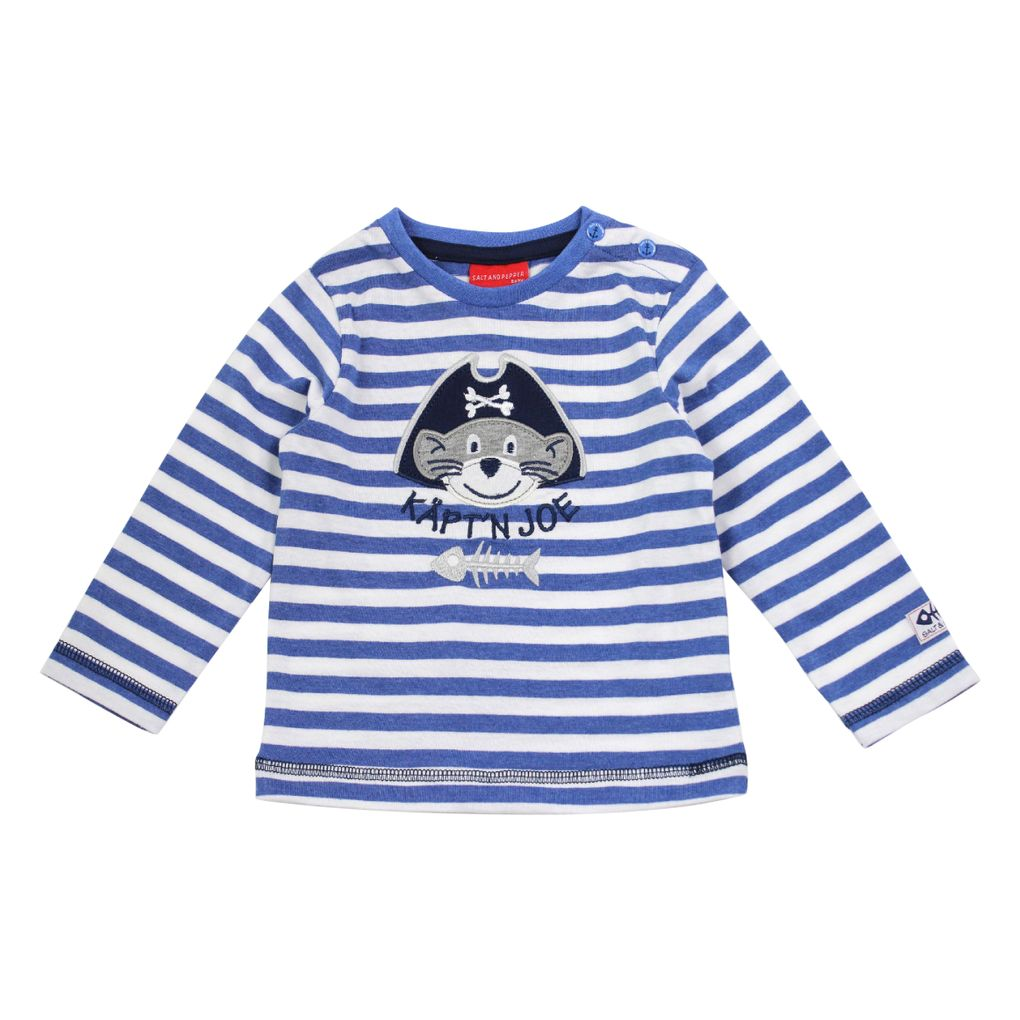 Salt and Pepper Baby Jungen Longsleeve Käpt´n Joe gestreift