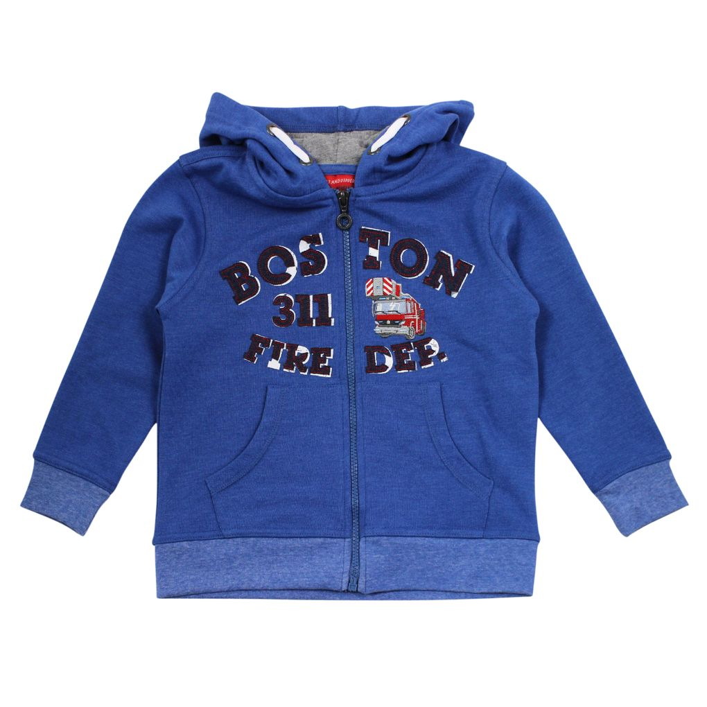 Salt & Pepper Jungen Kapuzen-Sweatjacke Firefighter – Bild 1