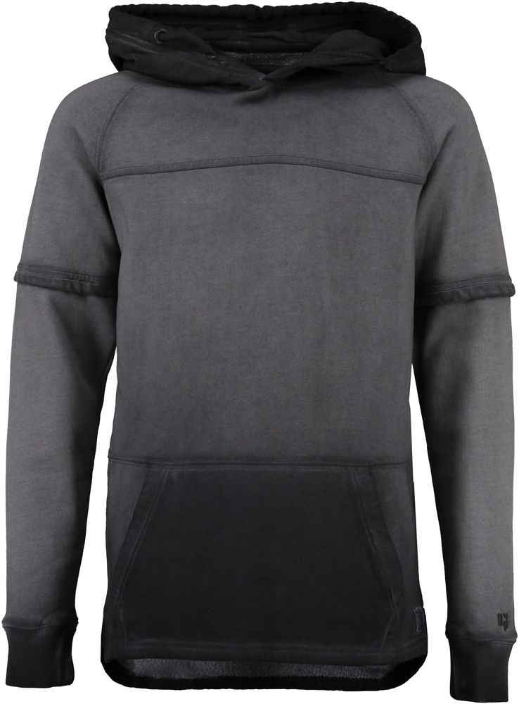 Garcia Jungen Kapuzen-Sweatshirt long fit cool dyed in graphite – Bild 1