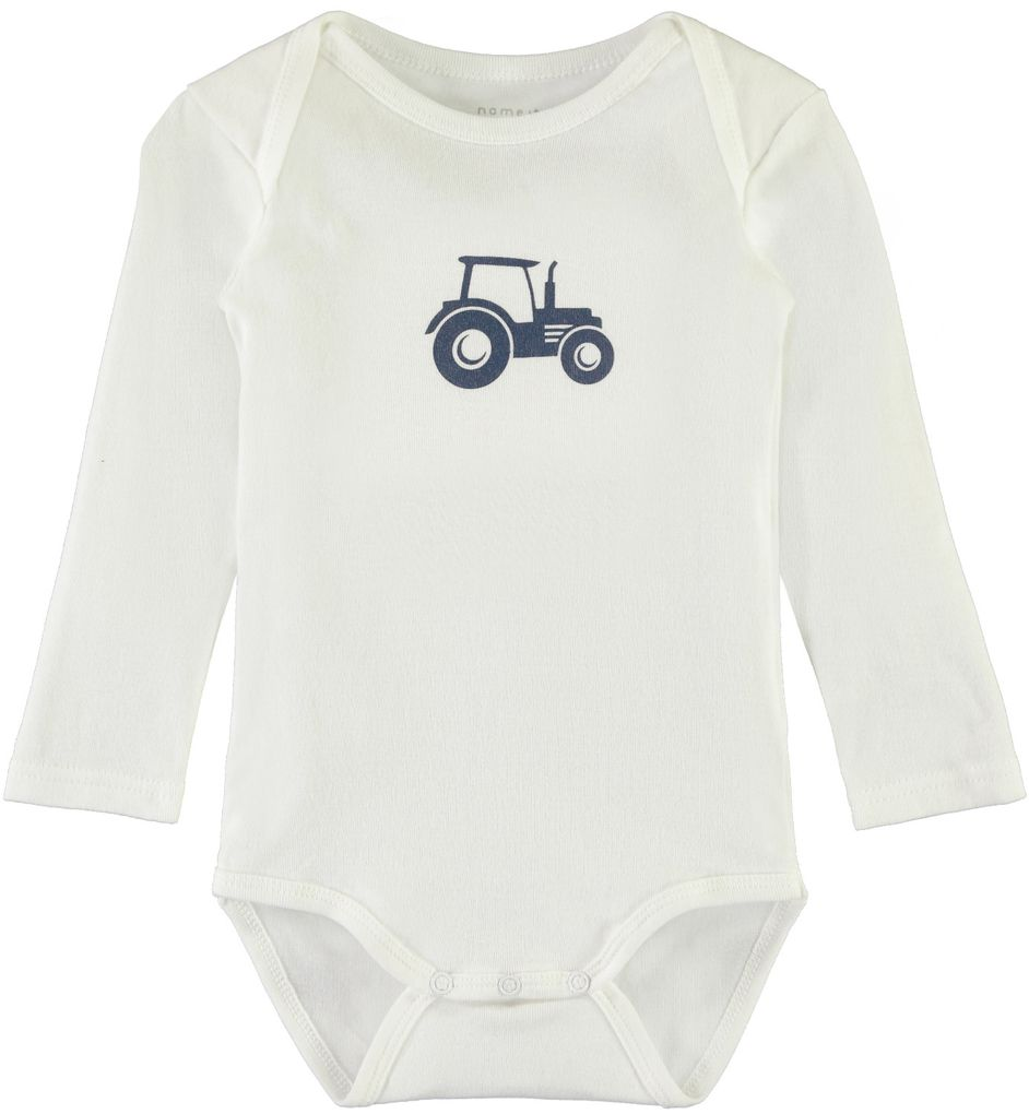 Name it Baby Langarmbody Traktor 3er Set ensign blue – Bild 3