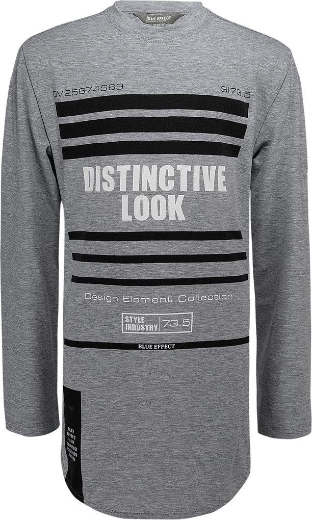 Blue Effect Long-Shirt für Jungen langarm long fit in grey melange – Bild 1
