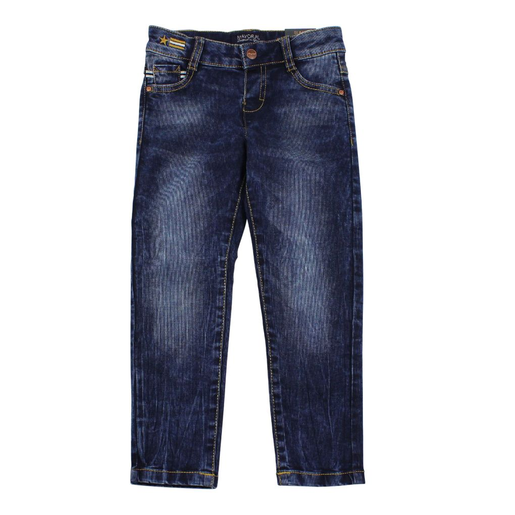 Mayoral Jungen Jeans Hose slim fit in Denimblau