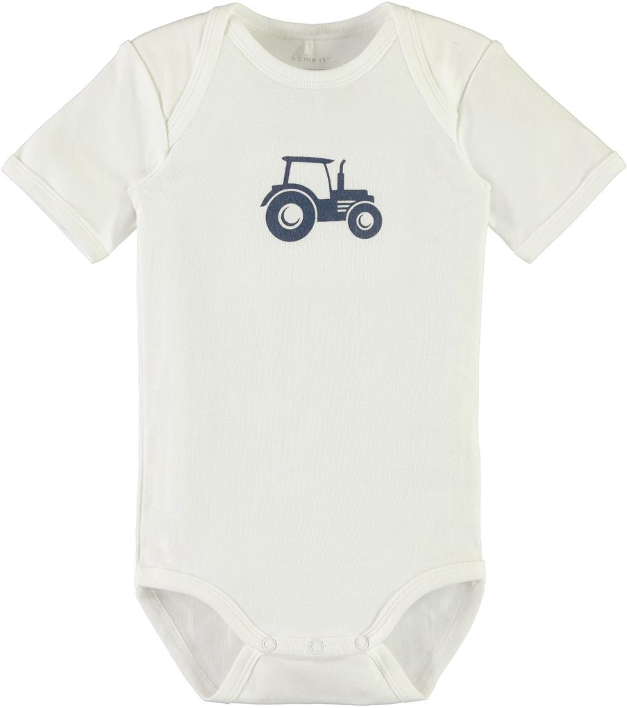 Name it Baby Kurzarmbody Traktor 3er Set ensign blue – Bild 3