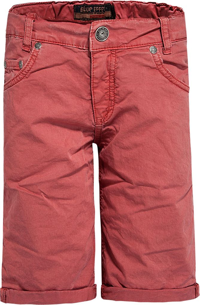 Blue Effect Jungen Bermuda Chino slim fit in mineralrot