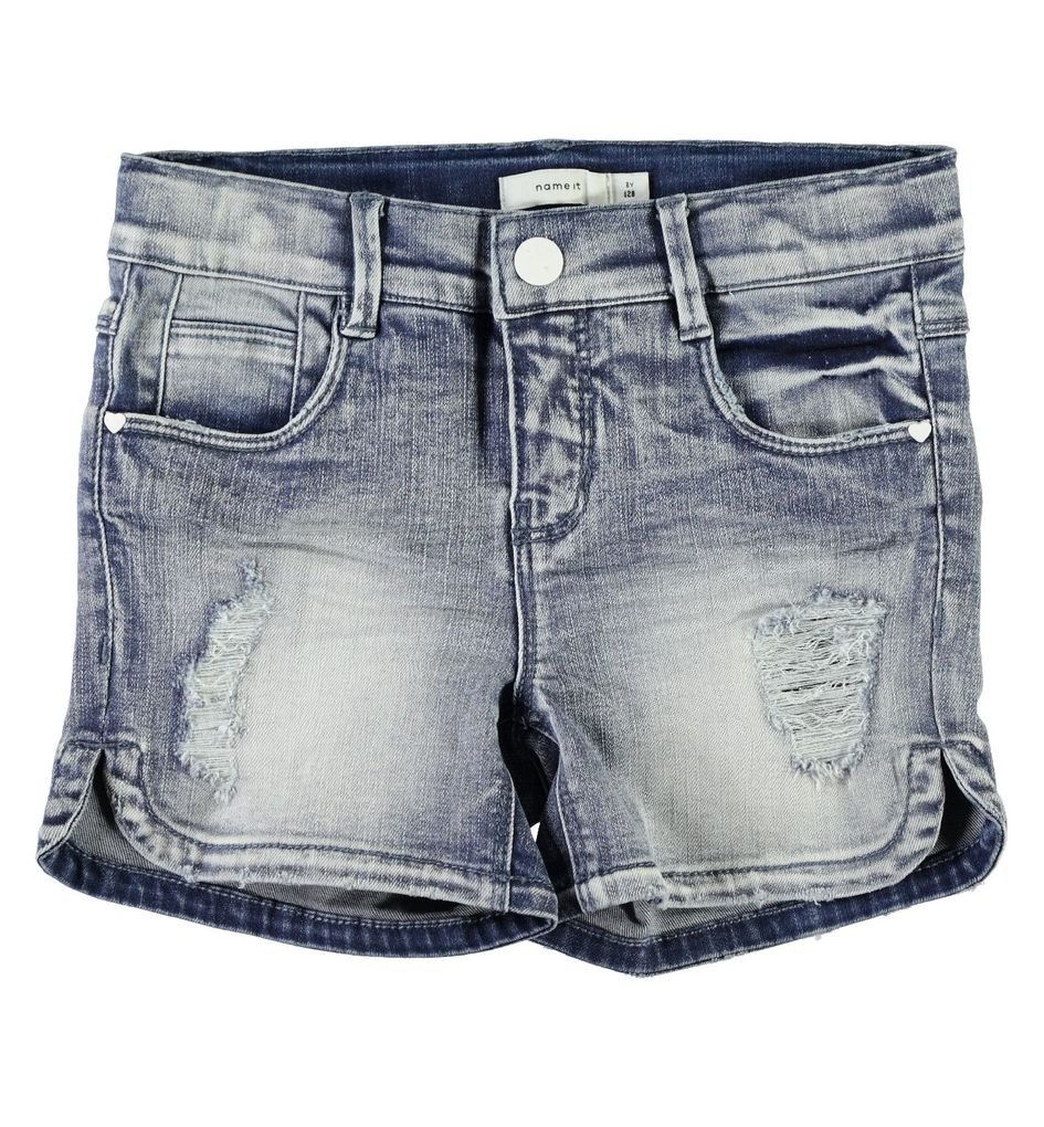 Name it Mädchen Jeansshorts NKFSalli Kids denim – Bild 1