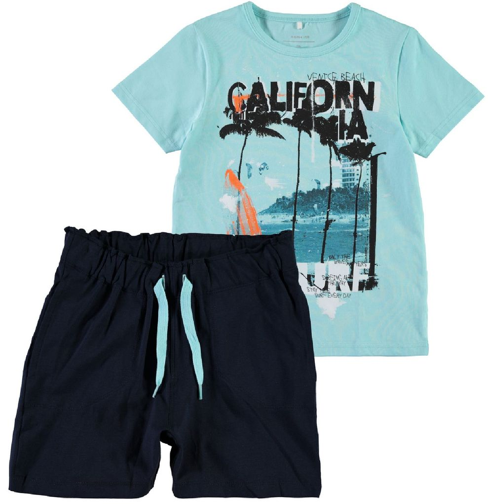 Name it Jungen Sommer-Set T-Shirt und Shorts Surfer NKMZimak – Bild 1