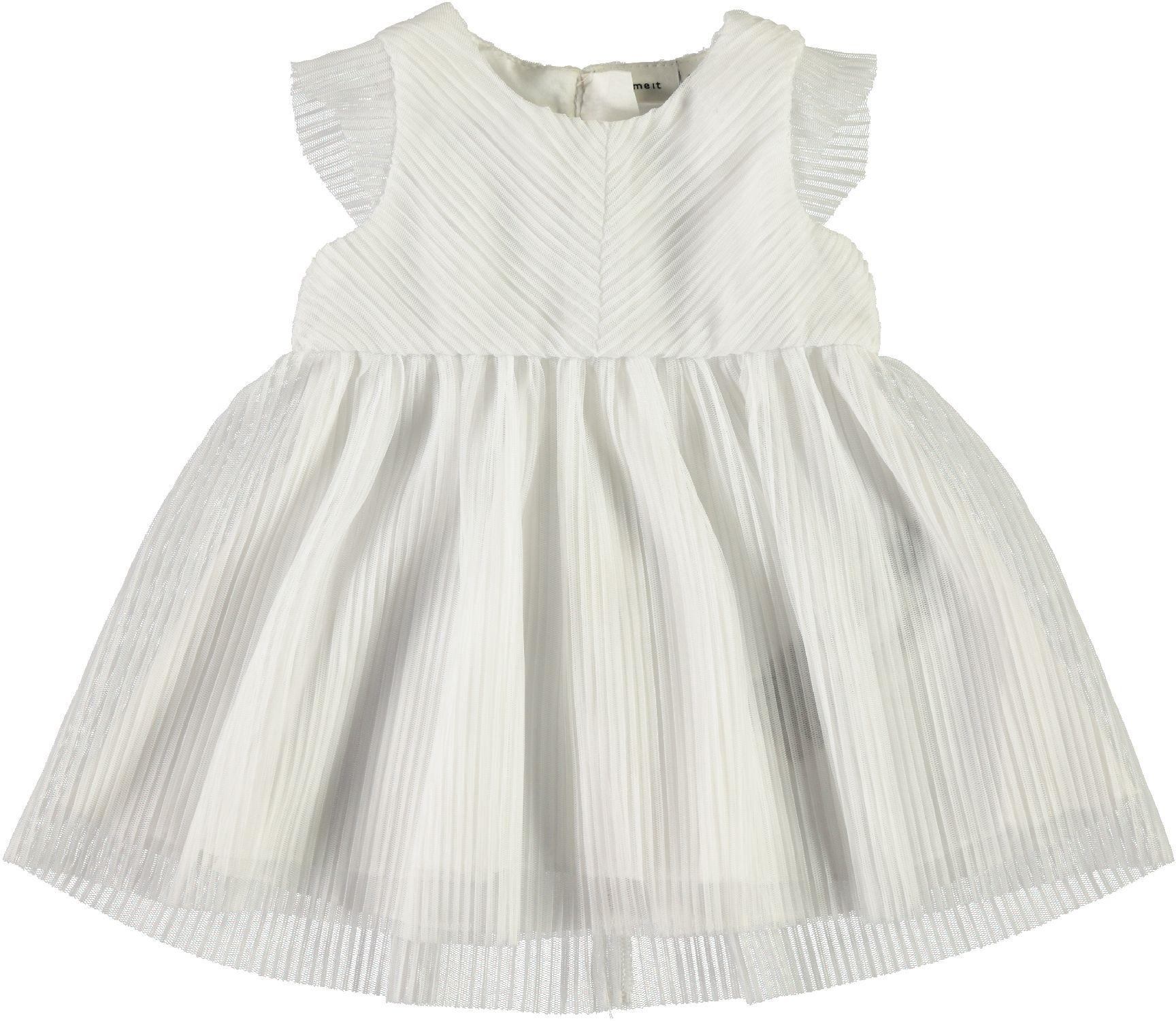 Name It Baby Mädchen Festkleid NBFGARIT Taufkleid ärmellos weiß Festkleidung