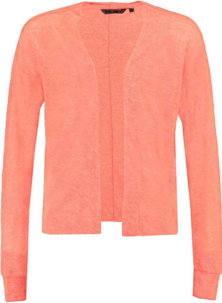 Garcia Mädchen Strick Cardigan Sommerjacke in sunset orange